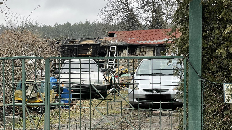 Pożar baraku mieszkalnego w Kobylnicy