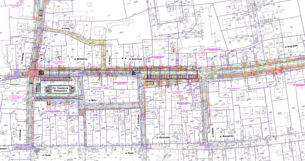 Projekt przebudowy obejmuje dużą część ulic śródmieścia